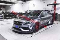 Mercedes-Benz A45 amg wide body kit front lip side skirts rear lip fenders spoiler